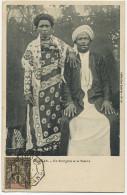 Comores Sultanat Anjouan Sultan Un Bourgeois Et Sa Femme Timbre Anjouan Avec Cachet Complaisance  Comoros Sultanate - Comoros
