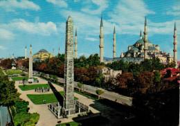 ISTAMBUL   SULTAN  AHMET MOSQUE AND ST. SOPHIA         (VIAGGIATA) - Turchia