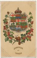 Dominion Of Canada Blason Armes Armoiries Ecusson Castor Erable Gaufrée Embossed Beaver 1712 Nerlich Toronto - Canada