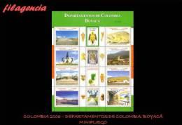 AMERICA. COLOMBIA MINT. 2006 DEPARTAMENTOS DE COLOMBIA. BOYACÁ. MINIPLIEGO - Colombie