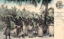 Amérique - Cocoanut Dance Of The South Sea, Islanders, Hawaï, Aloha Nui From Hawaiian Islands (colorisée) (cad Honolulu) - Etats-Unis