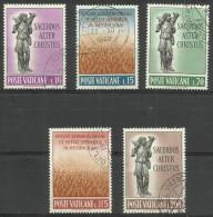 Vatican - 1962 Religious Vocations Set Of 5 Used  SG 374-8  Sc 330-4 - Oblitérés