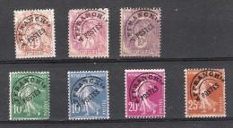 FRANCE:lot De 7 TP:préoblitérés:type Blanc,Semeuse Fond Plein 1922/47 - Préoblitérés