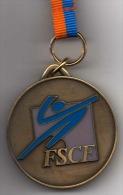 Médaille FSCF : Fédération Sportive Et Culturelle De France (avec Ruban Original) - France