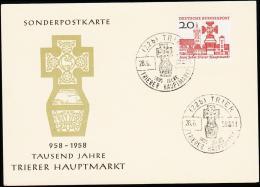 1958. 1000 Jahre Trier Hauptmarkt. 20 Pf. TRIER 100 JAHRE TRIERER HAUPTMARKT 28.6.58. (Michel: 290) - JF220796 - Non Classificati