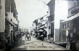 VIETNAM INDOCHINE TONKIN HAIPHONG RUE CHINOISE  TIMBRE ENLEVE AU DOS - Viêt-Nam