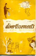 DIVERTISSEMENTS   MAGAZINE RÉSERVÉ AU CORPS MÉDICAL MAI 1951 N°5  ILLUSTRATIONS LUC BY,MICH - Non Classés