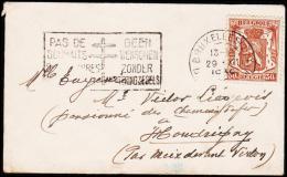 1939. 30 C. BRUXELLES 29. XII 1938 GEEN WENSCHEN ZONDER ZEGELS. MINI.  (Michel: 420) - JF221074 - Belgien