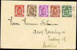 1937. 5, 10, 20, 30, 35 C ANTWERPEN 20 II 1937 POSTE AERIENNE. (Michel: 418+) - JF221073 - Belgien