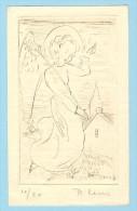 ORIGINELE GRAVURE 10/20 GEHANDTEKEND REMI LENS ARENDONK - Old Paper