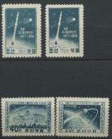 134/137 *  Espace  Conquête Spatiale   Cote 32 Euros - Korea (Noord)