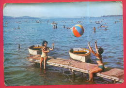 167697 / LAKE BALATON - NUDE WOMEN Swimming BEACH Volleyball Volley-Ball Voleibol - Hungary Ungarn Hongrie Ungheria - Volleyball