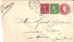 Enveloppe  -  Cachet  Au  Depart  De  NEW - YORK   à  Destination  De  Sedzère  Par  Morlaas  ( 64 ) - Amérique Centrale