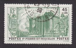 St. Pierre & Miquelon, Scott #B4, Used, French Revolution, Issued 1939 - Oblitérés