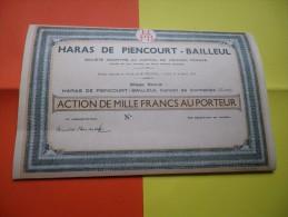 HARAS DE PIENCOURT-BAILLEUL (1934) EURE - Hist. Wertpapiere - Nonvaleurs