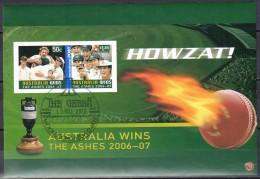 Australia 2007  Australia Wins The Ashes - Imperf M/S - Used - Blocks & Sheetlets