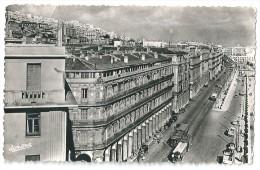 Cpsm: ALGERIE - ALGER Boulevards Carnot Et De La République(Voitures, Tramway) 1956 N° 603 - Alger
