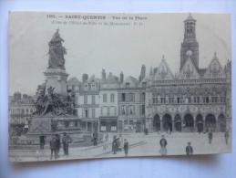 - Cpa - Yvelines - Saint Quentin - La Place - Hôtel De Vile Et Monument - Animée - - St. Quentin En Yvelines