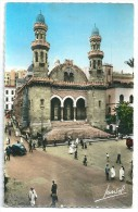 Cpsm: ALGERIE - ALGER La Cathédrale (Animée, Voitures) 1960 N° 1000 - Alger