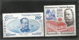 NOUVELLE-CALEDONIE. Année Pasteur, Institut Pasteur.  2 T-p Neufs ** - Louis Pasteur