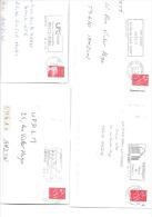 50  Lettres Entières Avec Belles Flammes Différentes Années 2000 - Marcophilie (Lettres)