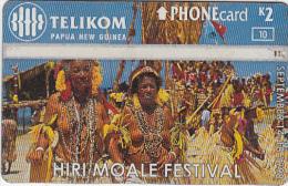 PAPUA NEW GUINEA - Hiri Moale Festival/Female Dancers, CN : 808A, Used - Papua New Guinea