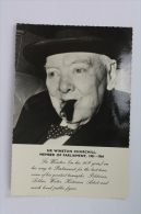 Sir Winston Churchill Meber Of Parliament, 1901 - 1964 Postcard - Posted With Churchil Stamps - Personajes Históricos
