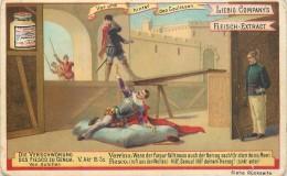 """CHROMO LIEBIG - Vor Und Hinter Den Coulissen """" Devant Et Derrière Les Coulisses """" - Série Allemande N° 459 - Année 1895 - Liebig"""