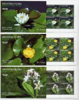 CROATIA 2006 Wetland Plants  Booklets Of 10 Stamps  MNH / **.  Michel 779-81 - Croatia