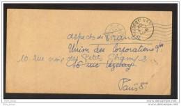 Entrepots De Clichy FIVE Port Payé  Clichy Pour Paris 8 1952 - Vieux Papiers