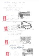 50  Lettres Entières Avec Beaux Décors Unicolores - Marcophilie (Lettres)