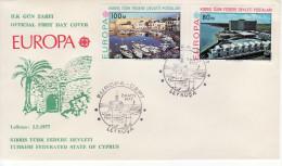 1977 - CIPRO TURCA  FDC EUROPA CEPT - VEDI++++ - Europa-CEPT