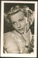 Lot Of 2 ANNABELLA MOVIE FILM OLD ROSS TOBACCO CIGARETTE CARD 7 X 4,5 Cm - Acteurs
