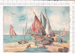 Port  -  Bâteaux  -  Barques  -   Phare  - Pêcheurs  -   Illustration   D Après   BARDAY - Contemporain (à Partir De 1950)