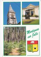 MARTIGNAS SUR JALLE (33-Gironde), Blason, Eglise Et Son Clocher, Hôtel De Ville, Forêt De Pins, Ed. ASP - France