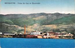 """03293 """"BEYROUTH - USINE DE GAZ ET ELECTRICITE"""". CARTOLINA POSTALE . SPEDITA 1925. - Libano"""