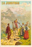 Reproduction De L'affiche De H. Tanconville - P.L.M. 1900 - La Jungfrau - Publicité