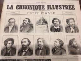 1868 LA CHRONIQUE ILLUSTRÉE - PETIT FIGARO - N° 4 - LES MYSTÈRE DU LE PETIT JOURNAL -  LAZARONI ET PIFFERARI - Zeitungen