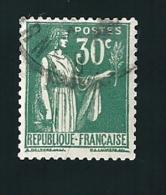 N° 280 Type Paix 30 Cts Vert  Oblitéré Rond 1932 - 1932-39 Paix