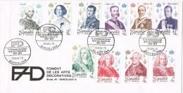 12371. Carta Barcelona 1978 Artes Decrativas. Serie Completa Reyes España - 1931-Hoy: 2ª República - ... Juan Carlos I