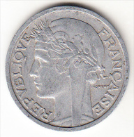 FRANCIA 1947B    2 FRANCOS TIPO MORLON. EBC ALUMINIO .. CN 4260 - Francia