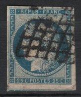 France - Cérès N° 4 25c Bleu Avec 1 VOISIN & 4 MARGES Et SANS AMINCI - PETIT PRIX à Voir - 1849-1850 Ceres