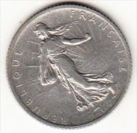 FRANCIA 1908   1 FRANCO TIPO SEMBRADORA.RARA  . EBC PLATA.PESO 5 GRAMOS . CN 4260 - H. 1 Franc