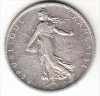 FRANCIA 1910  1 FRANCO TIPO SEMBRADORA.RARA  . EBC PLATA.PESO 5 GRAMOS . CN 4260 - Francia