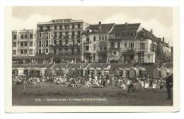 CPA - Photo Carte - Foto Kaart - KNOKKE - KNOCKE - La Plage Et L'Hôtel Majestic  // - Knokke