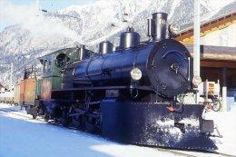 007-159) Dia (color Slide) Schweiz RhB - G 4/5 108 Dampflokomotive - Trains