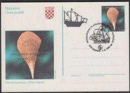 "Croatia 1997, Postal Stationery ""Pinna Nobilis"" W./ Special Postmark ""Int.philatelic Exibition Portugal"", Ref.bbzg - Croatia"