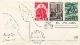 VATICAN 1960 - 3 Fach Frankierung Auf Brief - Vatikan