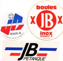 Lot Autocollant SPORT  PETANQUE BOULES JB - Autocollants