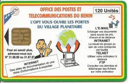 CARTE PUCE-BENIN-120U-VILLAGE PLANETAIRE-TBE - Bénin